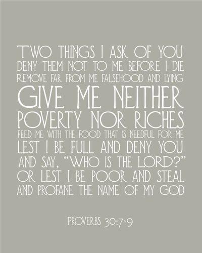 proverbs 30 7-9
