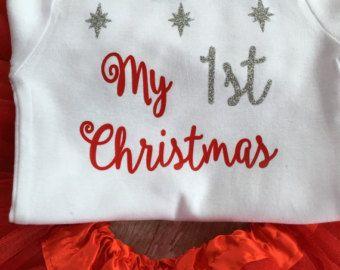 My First Christmas Onesie,  Onesie Christmas, 1st Christmas Outfit, Girl Christmas Shirt, Christmas Clothing, Holiday Onesie, Photo Prop