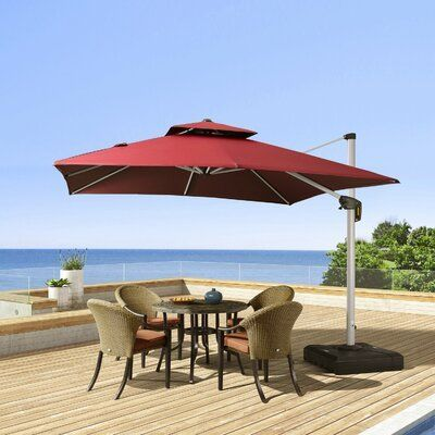 Freeport Park Macclesfield 10 Square Cantilever Umbrella In 2020 Cantilever Umbrella Deck Umbrella Offset Patio Umbrella