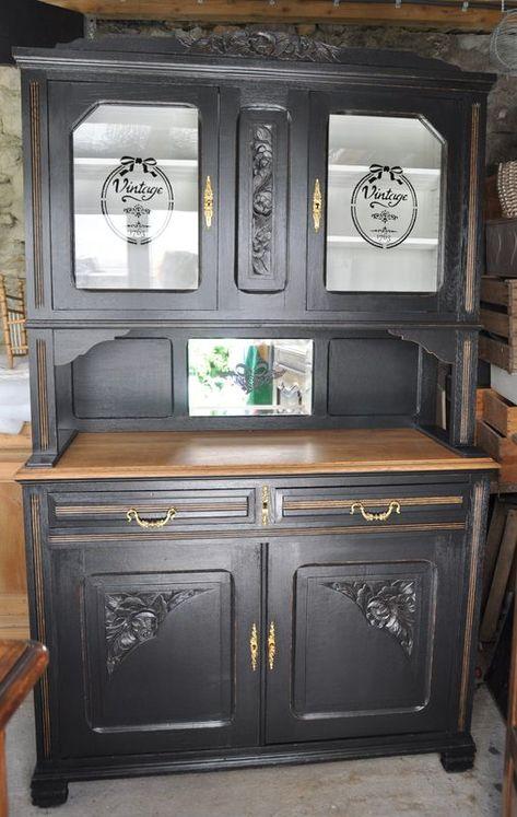 Vaisselier Black And White Un Pinceau Une Idee Mobilier De Salon Relooking De Mobilier Relooker Meuble