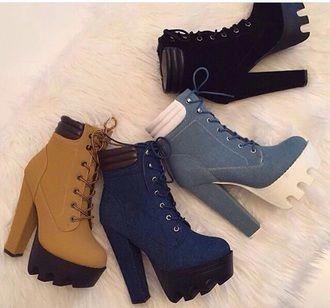 hélice Vuelo Ingenieros  Timberlands heels #Shoeshighheels | Sapatos da moda, Sapatos fashion,  Sapatos para garotas