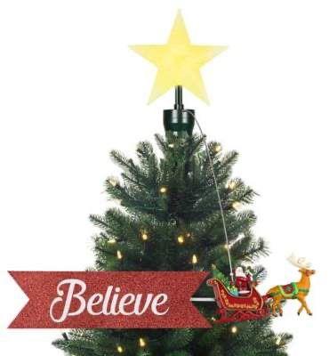 Mr Christmas Santa Sleigh Animated Tree Topper Tree Toppers Indoor Christmas Decorations Christmas Decorations