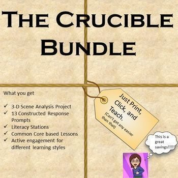 Make Your Crucible Unit Highly Engaging With Thi Bundle Of Three Powerful Comprehensive Lesson Plan And Ac Literacy Station Constructed Response Common Core Huckleberry Finn Paraphrase