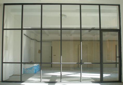8punkt8 » Archiv » Stahl- Glaswand Glogauerstr büro raumteiler - bunte glas trennwande spielerisch