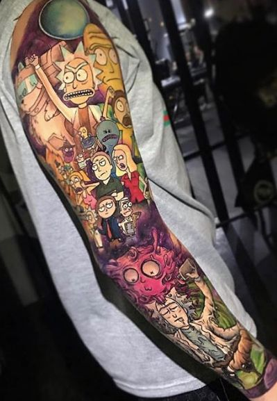 Best 40 Rick and Morty Fan Tattoos   NSF - MUSIC STATION