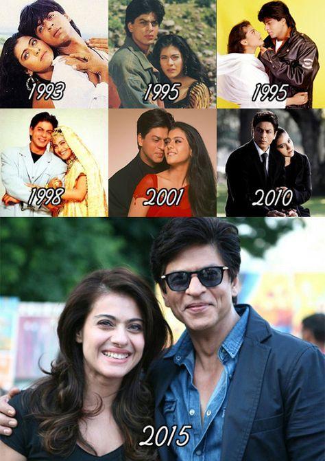 Baazigar Karan Arjun Dilwale Dulhania Le Jayenge Kuch Kuch Hota Hai Kabhi Khushi Kabhie Gham My Name Shahrukh Khan And Kajol Bollywood Actors Bollywood Couples