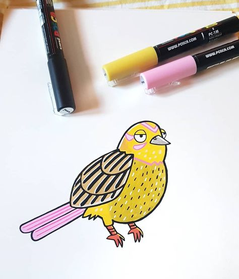 Same game, different tools 🐤 . . . . . #illustration #traditional #painting #drawing #teckning #kidlit #yellowhammer #pattern #art #artsy #artist #instaart #draw #colors #bird #drawing #artworldly #dailyart #artofinstagram #photoshop #artistofinstagram #illustrator #cartoon #colorful #draw #gulsparv #fågel #screenprint