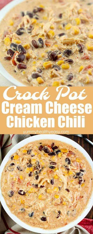 Crock Pot Cream Cheese Chicken Chili Recipe