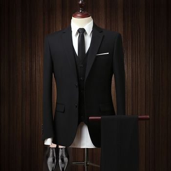 Groom Dress Italian Design Coat Pant 2 Piece Men Suits