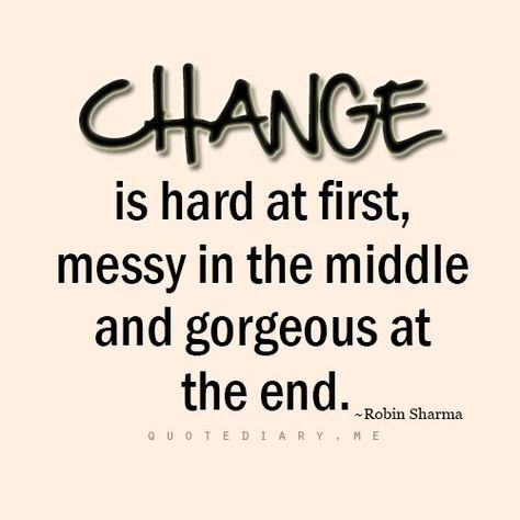 Accept change to get the results you want