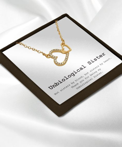 Thanks for being my unbiological sister necklace jewelry gift ideas for bestie bestfriend or stepsister, more info click product link