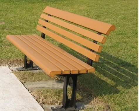 WPC Bench adopt Recycled Plastic components export to Canada