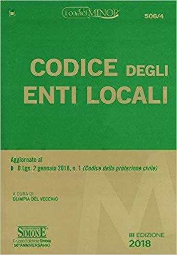 Download Libro Codice Degli Enti Locali Ediz Minore Pdf Gratis Italiano Libri Studenti Universitari Studente