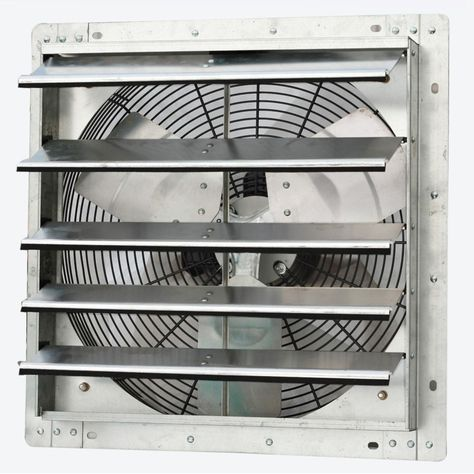 Iliving Variable Speed Wall Mount Shutter Exhaust Fan Size 16 In Wall Fans Shutter Wall Air Blade