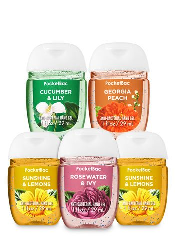 Spring Bouquet Pocketbac Hand Sanitizers 5 Pack Bath Body