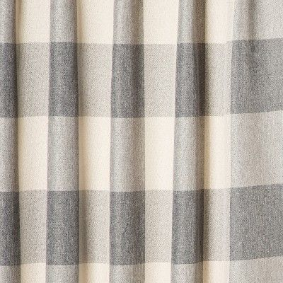 52 X108 Larkhall Plaid Blackout Window Curtain Panel Gray Cream