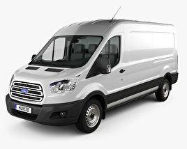 3d Model Of Ford Transit Panel Van L2h2 With Hq Interior 2012 Ford Transit Vans Camper Van Conversion Diy