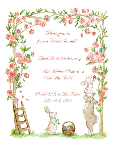 photograph about Easter Bunny Letterhead named Pinterest