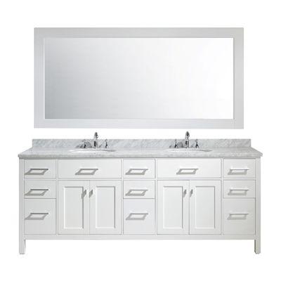 Design Element Bathroom Vanity Dec076 84 London 84 In Double Sink Vanity Set Bathroom Sink Vanity Double Sink Bathroom Vanity Marble Vanity Tops