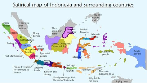 Satirical map of indonesia and its surrounding countries maps satirical map of indonesia and its surrounding countries maps pinterest sciox Image collections