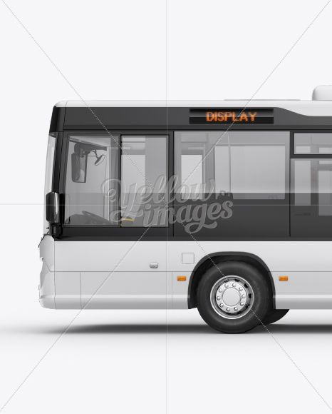 Download City Bus Hq Mockup Left Side View Psd Mockup Free Psd