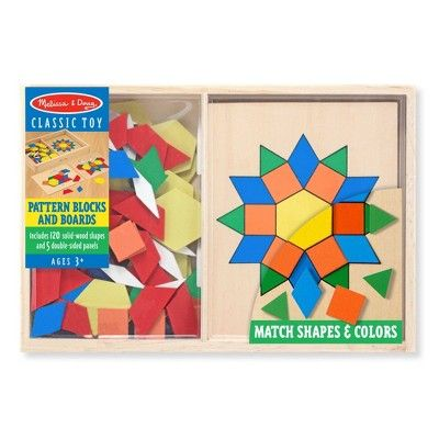Melissa Doug Pattern Blocks And Boards Classic Toy With 120