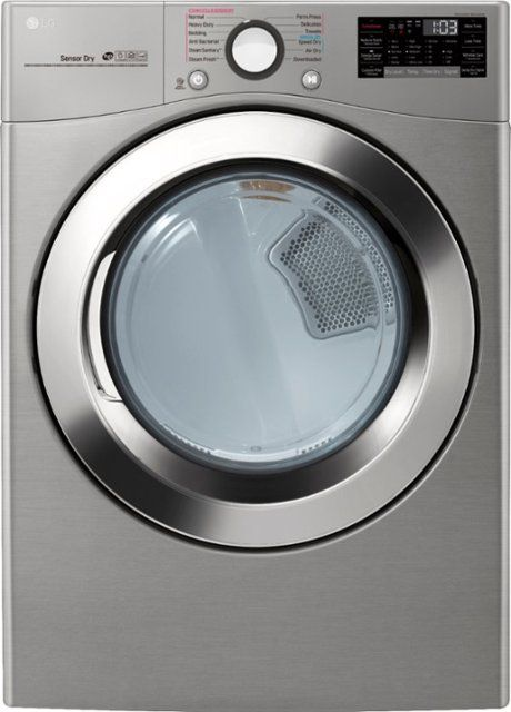 Lg 7 4 Cu Ft 12 Cycle Smart Wi Fi Electric Steamdryer Sensor Dry And Turbosteam Graphite Steel Front Zoo Cool Things To Buy Electric Dryers Gas Dryer