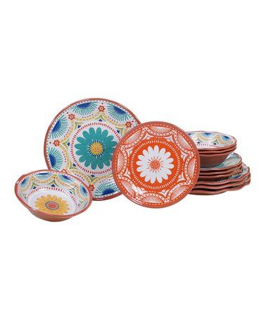 Veracruz 12 Piece Dinnerware Set Zulily Zulilyfinds Melamine