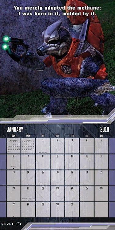 Gaming Calendar 2019 Halo Wall Calendar #dateworksbytrends #dateworks #trends