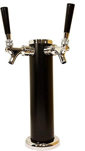 Enjoy Exclusive For Double Tap Draft Beer Tower 2 Tap Beer Column 13 Inch High 3 Inch Diameter Stainless Steel Body With Unique Black Satin Finish Chrome In 2020 Chrome Finish