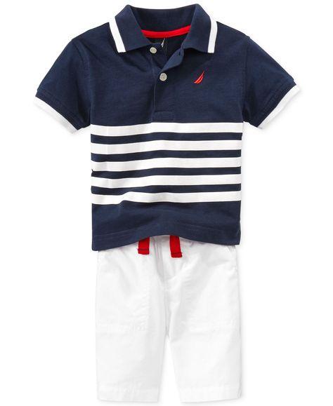 Nautica Baby Boys 2 Pieces Polo Shorts Set