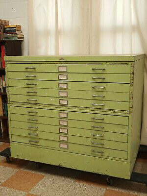Ad Ebay Url Vintage Metal Flat File Drafting Map Blueprint 10 Drawer Cabinet 48x34 Baltimore In 2020 Flat Files Vintage Metal Drawers