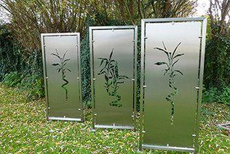 Moderne Deko Idee Fein Edelstahl Sichtschutz Garten Balkon Zaun
