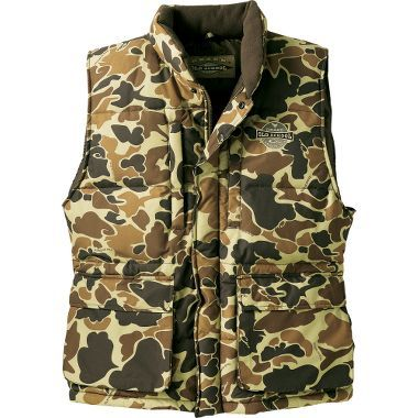 1762df87e466a Drake Old School Camo Lst Down Vest - Tan, Forest (XL) $119.99