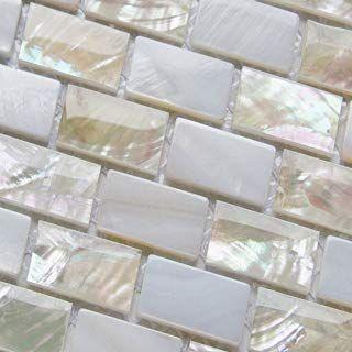 Die St/ärke betr/ägt 6mm MT0113 Glas Wand Fliese Silber mit Glitzer Fliese ist 7.5cm x 15cm