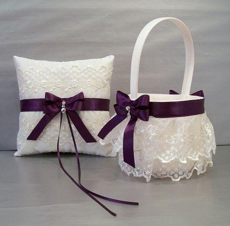 Ciruela púrpura de la boda nupcial flor chica por evertonbridal