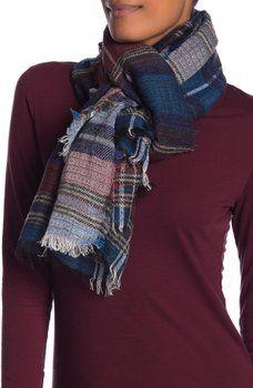 167880641 vismaya - Woven Textured Plaid Scarf Plaid Scarf, Nordstrom Rack, Weaving,  Closure Weave