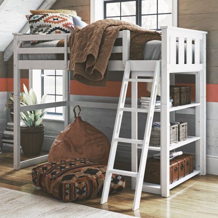 Better Homes Gardens Kane Twin Loft Bed Multiple Finishes