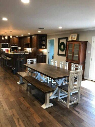 Farm Style Table Farmhouse Table With Benches Reclaimed Wood