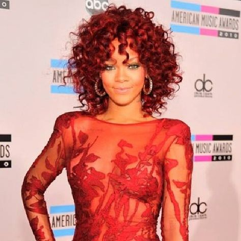 Rihanna in red lace. Beautiful