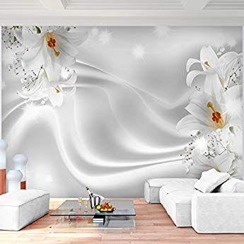 Fototapeten Blumen Lilien Schwarz Weiss 352 X 250 Cm Vlies Wand Tapete Wohnzimmer Schlafzimmer Buro Flur Dekoration Wandbilde Flur Dekoration Wandtapete Tapeten