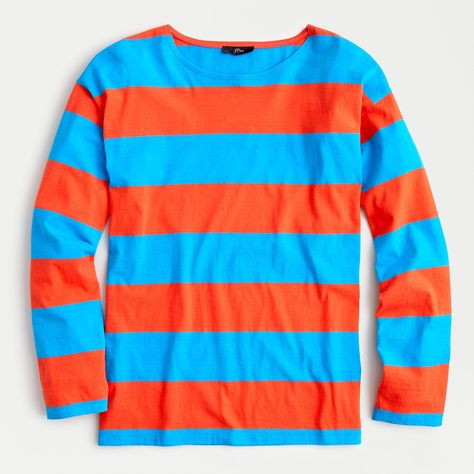 Long-sleeve T-shirt in rugby stripe