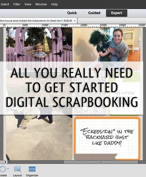 How to Get Organized to Start Digital Scrapbooking  via simplify101.com