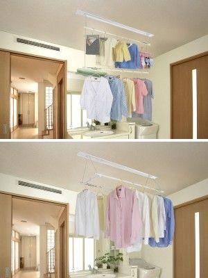 洗濯物の部屋干しが楽に 物干しユニットのリフォーム 模様替え 部屋干し 部屋