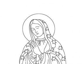 Dibujos Para Colorear De La Virgen Guadalupe Sketch Coloring Page Aurora Sleeping Beauty Art Coloring Pages