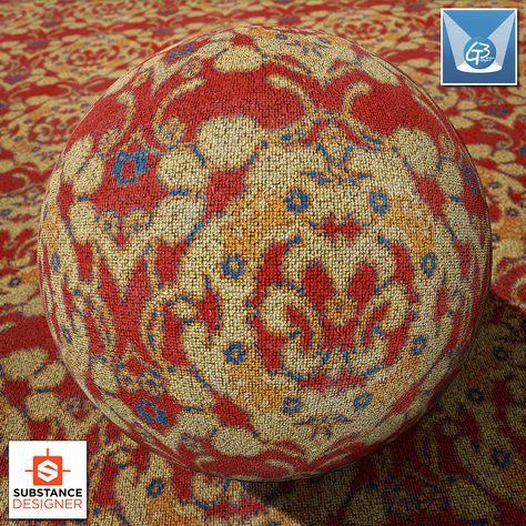 Substance Flowery Carpet Artwork Material Carpet