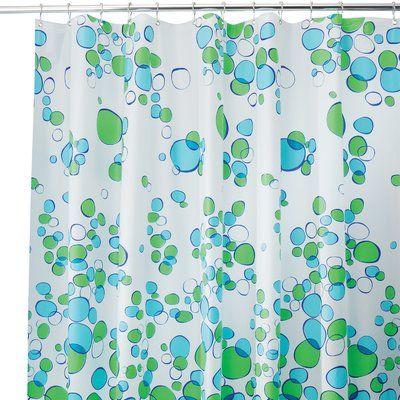 Zoomie Kids Tunstall Bubble Single Shower Curtain In 2020 Blue