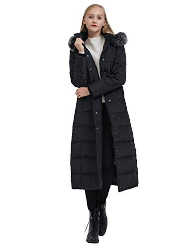Hooded Long Down Jacket Winter Parka Puffer Coat ilishop Womens Thickened Maxi Down Jackets