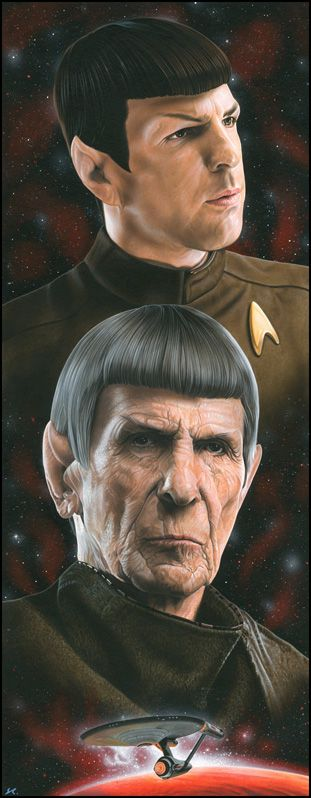 Star Trek - Spock by *caldwellart on deviantART.  One of the best jobs of casting I have ever seen.