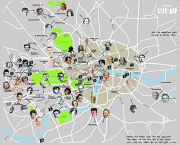Hollywood Stars Homes Map